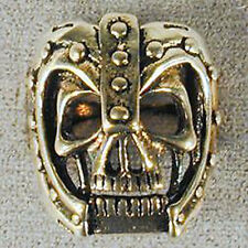 1 DELUXE MIDIEVAL HELMET SKULL WARRIOR SILVER BIKER RING BR73 mens jewelry RINGS