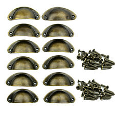 12pcs Cupboard Door Antique Shell Pull Handles Kitchen Cabinet Drawer Knobs