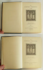Earthly Paradise by William Morris ~ Part 1 1884 & Part 3 1886 Antique Poem Book