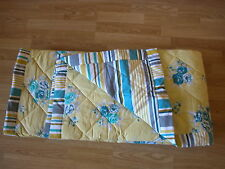 Next ochre jaune bleu sarcelle floral vintage shabby chic réversible throw va ensemble de lit