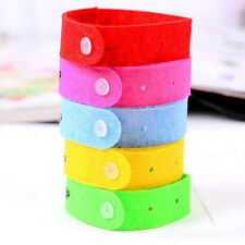 5X Anti Mosquito Bug Repellent Wrist Band Bracelet Insect  Nets Bug Lock Camping