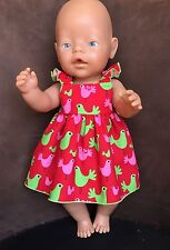 Birds Cotton Sundress hand made dolls clothes for Baby Born