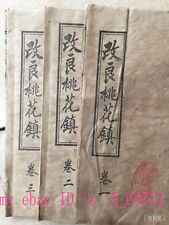 3 pc Fine old Chinese witchcraft Amulet painted draw-book