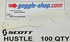 100 qty GOGGLE-SHOP TEAR OFFS to fit SCOTT HUSTLE MOTOCROSS MX GOGGLES flippers