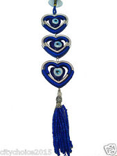 Feng Shui Beautiful Hanging with Three Hearts & Evil Eye Car&Door A unique gift
