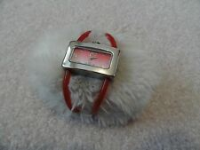 Ladies Quartz Watch with a Red Band
