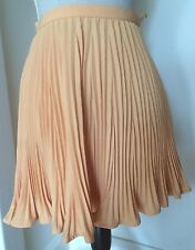 Vintage Versace Solid Peach Pleated Wool Sheer Chiffon Skirt Size 0 Size 38 XS