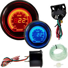 "Universal 2"" 52MM PSI Digital Boost Vacuum Gauge Meter Car LED Red & Blue #1"
