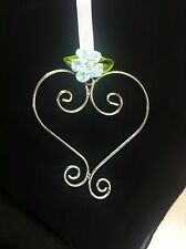 Wedding Charm Beautiful Silver Heart/Horseshoe charm Bridal/Bridal Party