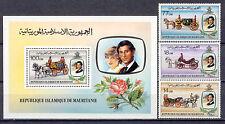 Prinzessin Diana,Royal Wedding, Kutsche, Pferde- Mauretanien-726-28, Bl.32** MNH