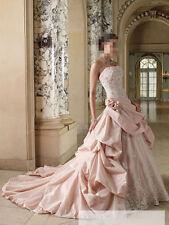 A-Linie Weiß Elfenbein Brautkleid Hochzeitskleid Ballkleid 34 36 38 40 42 44 46+