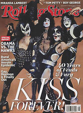 NEW! ROLLING STONE KISS FOREVER 2014 Paul Stanley Gene Simmons Frehley No Label