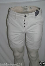 NWT ABERCROMBIE & FITCH MENS OFF WHITE PICHOFF MOUNTAIN SHORTS SIZE 28