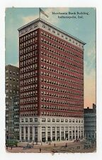 MERCHANTS BANK BUILDING, INDIANAPOLIS: Indiana USA postcard (JH1705)