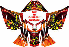 SKI DOO SNOWMOBILE WRAP REV,XP, XR,XS,XM MXZ  99-16 PLASMA OVAL FLAME STICKER