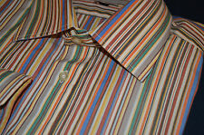 "PAUL SMITH Mens designer Shirt 17  XL ""(chest 46"") ICONIC SIGNATURE STRIPE!!!"