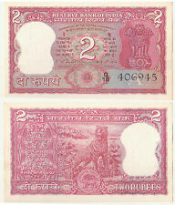 Rare Two Rupees Tiger Issue PREFIX A - G18 Sign.By I G Patel UNC Notes