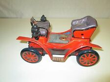 Vintage Tin Metal Battery Operated 1901 Jalopy Car for parts or repair