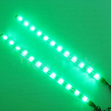 4pcs/set Green LED 1 Ft Submersible Navigation Light Waterproof Marine Boat 12V