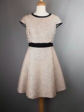 Ted Baker Qiara Dress Jacquard skater Pocket Detail size 3 UK 12