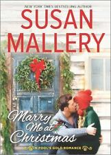 MARRY ME AT CHRISTMAS LARGE PRINT - SUSAN MALLERY (HARDCOVER) NEW