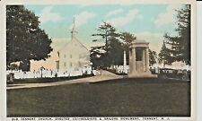 1920's The Old Tennent Church, Soldiers Monument in Tennent, NJ New Jersey PC