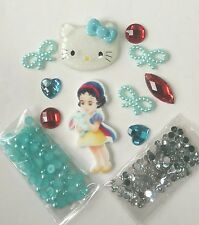 A81 Princess&Blue Kitten DIY Cell Phone Iphone4 4/5/6S Crystal Case-Deco Den Kit
