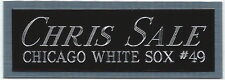 CHRIS SALE WHITE SOX NAMEPLATE FOR AUTOGRAPHED Signed Baseball Display CUBE CASE