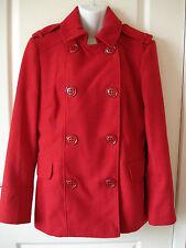 Smart Rojo Abrigo/Chaqueta lana Tacto suave-Talla 12-una vez usado-debe L @ @ K!