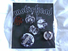 Badge: Motorhead : Set Of 6 Pin Badges : 2 Sizes Round & Sealed