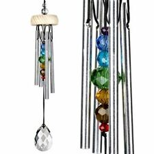 Woodstock Crystal Wind Chime with Chakra Rainbow Crystal Chimes Fairy Sound