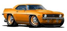 1969 COPO Camaro ZL1 427 Cartoon Car Wall Graphic Decal Poster Cling Man Cave