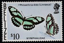 Belice (1740) - 1974 Mariposa $10 valor superior Menta desmontado