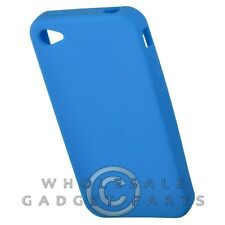 Apple iPhone 4/i4S Rubber Skin Case Light Blue Cover Shell Protector Guard Case