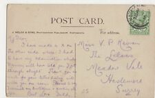 Miss V.P. Keran, The Lilacs, Meadow Vale, Haslemere 1916 Postcard, B276