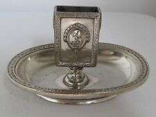 Vintage BILTMORE HOTEL LOS ANGELES CA. Silver Plate Match Holder c.1923