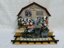 Mary's Moo Moos Lionel Train Set with Display 4 pieces Cow Enesco