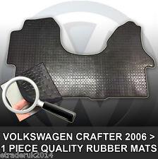 VW Volkswagen Crafter 2006> Van Rubber Floor Mat Mats Black Front 1 Piece Mat