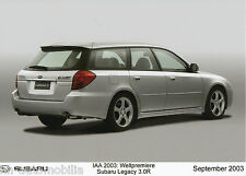 Pressefoto Subaru Legacy 3.0R Kombi 9 03 Foto press photo 17,8x12,7 cm 2003 Asia