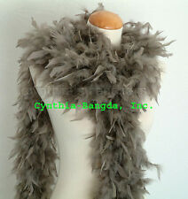 """65g Mouse Grey Chandelle Feather Boa, 72"""" long A+++ cynthia's feathers, NEW!"""