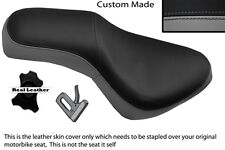GREY AND BLACK CUSTOM FITS GILERA COUGAR 125  DUAL LEATHER SEAT COVER