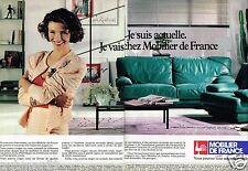 Publicité advertising 1988 (2 pages) Canapé fauteuil Cuir Center