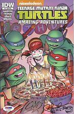 Peter Laird & Kevin Eastman TMNT NINJA TURTLES Signed Sketch Comic PSA/DNA #4