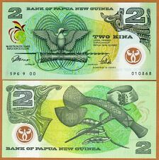Papua New Guinea, 2 Kina, 1991, P-12, UNC  Commemorative POLYMER, 9th SPG