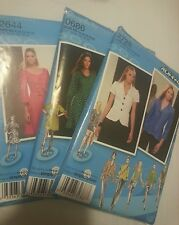 3 New Plus Size Simplicity Project Runway Sewing Patterns 2644, 0686 & 2728