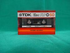 1xTDK AV-D60 (Type I) - Original* Vintage Audio Cassette* Made in Japan* 1985
