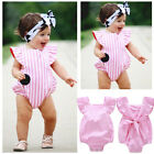 Striped Infant Baby Girl Bodysuit Romper Jumpsuit Outfits Summer Sunsuit 0-18M