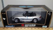 1/18 WELLY COLLECTION 2003 DODGE VIPER SRT-10 SILVER rd