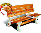 Patio Furniture Outdoor Chair Table Set Deck Dining Flip-Top Bench Camping -Fun
