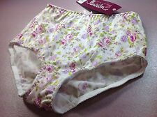 "Women Panties,Brief Bikinis""Ilusion""Size S.Silky Satin Floral W/front Protector"